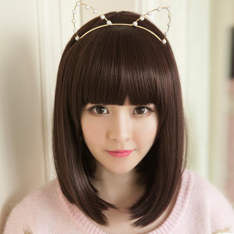 假发女短发直发齐刘海发套女生蓬松帅气波波bobo头发可爱韩国发型