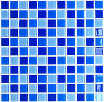 Tile mosaic glass crystal pool swimming pool fish pond blue background wall bathroom balcony wall stickers decoration