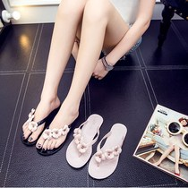 Womens shoes summer new flat bottom flip slippers female summer outside wear beach cool drag fashion