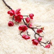 New Bold teahouse vase petal Living room Chinese dry branches green planting anti-real simulation plum branches dried flower art Tree