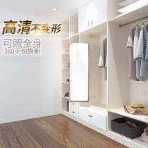 Wardrobe mirror sliding mirror built-in full-length mirror wardrobe mirror rotating retractable folding mirror test wardrobe built-in dressing mirror