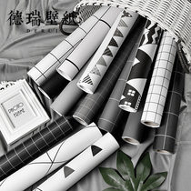 Modern simple self-paste wallpaper Nordic style ins Sen college dormitory dormitory bedroom background wall paper