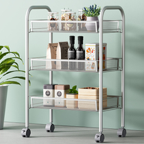 Space living bathroom rack mobile storage rack kitchen microwave rack clip rack basket bed frame