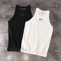Under Armour mesh breathable quick-drying sports vest T-shirt male running basketball outdoor sweat absorbent ua new printing