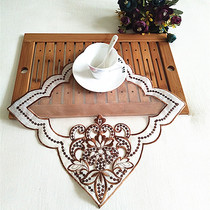 Foreign trade Korean embroidery tablecloth square napkin sequins vase jewelry cushion pad coasters European simple cover towel