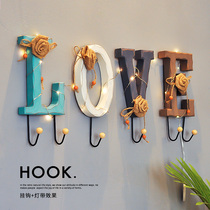 Creative key hook wall hanging coat hat hook wall entrance door storage rack hanging hanger wall decoration fitting room hook