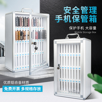 Mobile phone safe deposit box with lock transparent student portable staff storage lockers restaurant troops meeting storage box