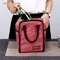 Golden key lunch box bag thermal insulation bag waterproof lunch bag snack bag aluminum film oxford cloth square with rice bag