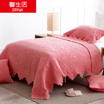 Xin Life Coral Red powder color children quilt Spring and autumn thin cover quilt girl air conditioner cover by students children Quilt