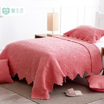 Girls pink children quilts spring and autumn was kindergarten nap two sets of autumn and winter air conditioning quilts skin-friendly cover was