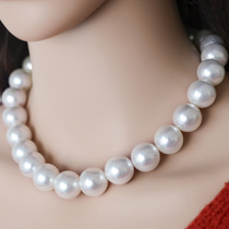 Pearl bird oversized Big Mac 13-16mm round light freshwater pearl necklace mother gift authentic