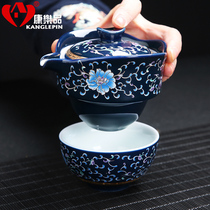 Leisure 快 客 杯 one pot three cups travel tea set portable bag portable teapot brewing Cup Japanese-style