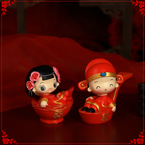 Tanabata Valentines Day gift resin couple doll Wedding Room Decoration small ornaments wedding doll wedding gift a pair