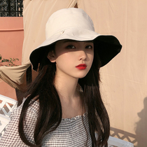 Summer fisherman hat female Japanese big hat eaves cover sun protection uv sun hat Korean version tide net red sun hat