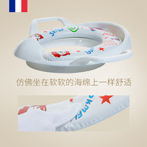 Childrens toilet toilet circle mens and womens baby toilet increase the toilet cover soft cushion auxiliary toilet circle.