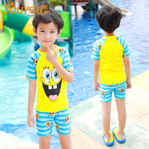 Youyou children swimsuit girl split in the childrens shorts suit boy baby baby student quick dry swimming equipment