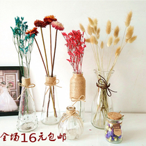 zakka handmade mini small rope vase glass bottle diy dried flower vase small fresh and transparent creative hydroponics