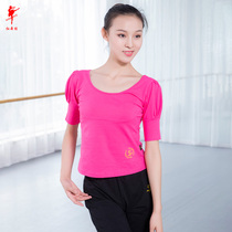 Dance practice clothing female ballet base training clothes female adult cotton tight mouth short-sleeved art test body body top yoga half-sleeve
