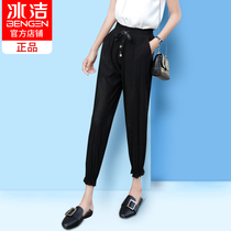Ice-clean Lantern pants female summer thin section Korean version of the wild Harlan feet nine pants casual loose wide leg radish pants