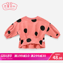 Baby spring sweater 1-3 childrens clothing childrens childrens childrens shirt spring and autumn style one-year-old 2 girls primer shirt spring