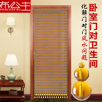 Gourd Bead Curtain Crystal curtain gate to bedroom bathroom Xuan Guan home living room toilet Feng shui partition curtain