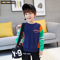 Left West boy sweater autumn 2019 New childrens long-sleeved t-shirt in the big boy spring and autumn boy Korean version of the tide
