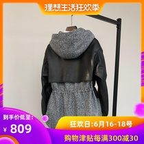 Xi Mei si Fei 2019 New Haining leather leather women long section of sheep skin woolen coat Coat Hooded