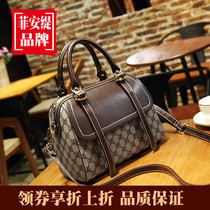 Hong Kong purchasing leather handbags 2019 new foreign texture mother bag Boston messenger bag wild