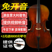 Shijia Musical Instruments Imported European Handmade Cello Professional-level Playing Level Solo Level Adult Italy