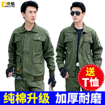 Cotton military mens overalls suit spring and autumn special forces authentic wear-resistant camouflage clothing labor overalls suit men