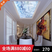 AI Shang manufacturers custom ceiling glass corridor living room aisle translucent painted simple fashion ceiling
