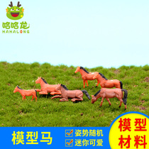 Outdoor with landscape DIY manual building model sand table model with landscape simulation animal simulation horse