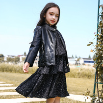Girls leather jacket 2019 autumn new children's children's clothing boys neutral children's leather girl jacket