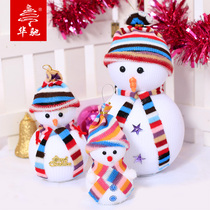 Huachi Christmas decoration supplies 25cm bubble Christmas snowman ornaments Christmas ornaments Christmas gifts