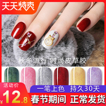 Nail polish 2018 new color nail fur gum velvet hair autumn and winter color light therapy Nail Oil Manicure shop Dedicated