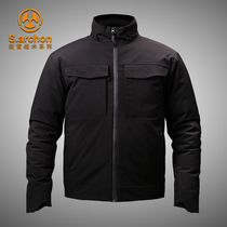 Outdoor commuter tactical down jacket male warm cotton waterproof windbreaker thick military tactical jacket ski clothing