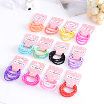 Childrens hair accessories Korean girls Hair Hair Hair Ring hair rope rope does not hurt the bamboo lotus festival color rubber band