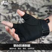 51783 Army fans outdoor Black Hawk tactical gloves half finger male riding climbing anti-cutting Combat Special Forces 07 gloves