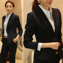 Black short small suit spring and autumn new chic Korean version slimming thin womens long sleeve professional small suit jacket