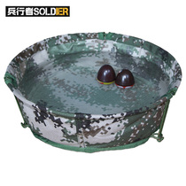 Soldier Walker Field camouflage Folding basin portable outdoor thin wash basin canvas washbasin Outdoor Camping dress