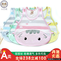 Small shell baby vest pipa shirt hollowed thin summer newborn top male and female baby sleeveless T-shirt sling