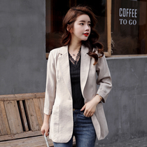 Net red suit jacket female spring and autumn 2019 new Korean spring casual temperament Korean shirt retro small suit