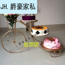 Tricycle disassembly decorative pastry multi-shelf dessert iron frame new wedding birthday bicycle rack cake