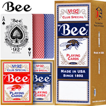 Small bee playing cards United States imported FCL wholesale 92bee genuine adult Baccarat dedicated card