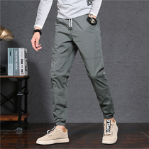 2019 autumn mens casual pants mens Korean version of the trend of long pants feet sports pants nine points feet pants men loose