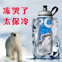 Road bike mountain bike ride kettle Polar bear sports to keep cold water cup outdoor sports water bottle