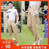Spring and summer golf clothing mens long pants golf cotton slimming sports Leisure pants