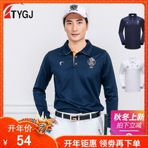 Spring Golf Clothing Mens long-sleeved T-shirt polo shirt mens sport hits bottom long-sleeved ball clothes