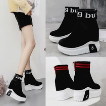 Hip-Hop socks Womens shoes fall 2018 new Net Red Autumn tide Korean version hundred thick bottom within the increase leisure sports