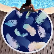 Popular beach bath towel round beach towel shawl spread hot spring swimming quick dry vacation scarves can be customized